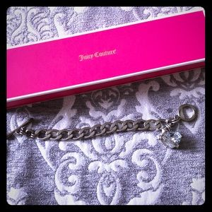 Juicy Couture Link Bracelet with Crystal Heart